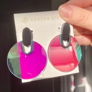 Kendra Scott DIDI Dichroic Glass Navy GM Earrings